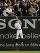 Sep 6, 2013; Bronx, NY, USA; New York Yankees right fielder Ichiro Suzuki (31) can not make the catch on a game-tying grand slam home run by Boston Red Sox first baseman Mike Napoli (not pictured) during the seventh inning of a game at Yankee Stadium. Mandatory Credit: Brad Penner-USA TODAY Sports