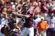 Sep 7, 2013; Blacksburg, VA, USA; Virginia Tech Hokies quarterback Logan Thomas (3) passes the ball during the first quarter against the Western Carolina Catamounts at Lane Stadium. Mandatory Credit: Jeremy Brevard-USA TODAY Sports