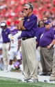 Sep 7, 2013; Madison, WI, USA; Tennessee Tech Golden Eagles head coach Watson Brown looks on during the third quarter against the Wisconsin Badgers at Camp Randall Stadium.  Wisconsin won 48-0.  Mandatory Credit: Jeff Hanisch-USA TODAY Sports