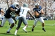 Sep 7, 2013; University Park, PA, USA; Penn State Nittany Lions running back Zach Zwinak (28) runs the ball during the third quarter against the Eastern Michigan Eagles at Beaver Stadium. Penn State defeated Eastern Michigan 45-7. Mandatory Credit: Matthew O'Haren-USA TODAY Sports
