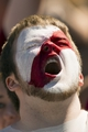 Sep 7, 2013; Philadelphia, PA, USA; Temple Owls fan during the second quarter against the Houston Cougars at Lincoln Financial Field. Houston defeated temple 22-13. Mandatory Credit: Howard Smith-USA TODAY Sports