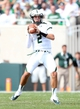 Sep 7, 2013; East Lansing, MI, USA; South Florida Bulls quarterback Steven Bench (2) attempts to throw the ball against the Michigan State Spartans during the 2nd half at Spartan Stadium. MSU won 21-6. Mandatory Credit: Mike Carter-USA TODAY Sports