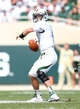 Sep 7, 2013; East Lansing, MI, USA; South Florida Bulls quarterback Matt Floyd (11) attempts to throw the ball against the Michigan State Spartans during the 2nd half at Spartan Stadium. MSU won 21-6. Mandatory Credit: Mike Carter-USA TODAY Sports