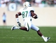 Sep 7, 2013; East Lansing, MI, USA; South Florida Bulls wide receiver Derrick Hopkins (87) runs the ball after the catch against the Michigan State Spartans during the 2nd half at Spartan Stadium. MSU won 21-6. Mandatory Credit: Mike Carter-USA TODAY Sports
