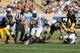 Sep 7, 2013; Berkeley, CA, USA; Portland State Vikings quarterback Kieran McDonagh (4) elects to run against the California Golden Bears during the second quarter at Memorial Stadium. Mandatory Credit: Kelley L Cox-USA TODAY Sports