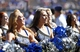 Sep 7, 2013; Colorado Springs, CO, USA; Air Force Falcons cheerleaders perform in the third quarter of the game against the Utah State Aggies at Falcon Stadium. The Aggies won 52-20. Mandatory Credit: Isaiah J. Downing-USA TODAY Sports