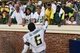 Sep 7, 2013; Charlottesville, VA, USA; Oregon Ducks running back De'Anthony Thomas (6) greets fans after the game. The Ducks defeated the Virginia Cavaliers 59-10 at Scott Stadium. Mandatory Credit: Bob Donnan-USA TODAY Sports