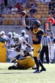 Sep 7, 2013; Berkeley, CA, USA; California Golden Bears quarterback Jared Goff (16) passes the ball against the Portland State Vikings during the third quarter at Memorial Stadium. Mandatory Credit: Kelley L Cox-USA TODAY Sports