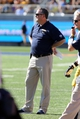 Sep 7, 2013; Berkeley, CA, USA; California Golden Bears head coach Sonny Dykes between plays against the Portland State Vikings during the third quarter at Memorial Stadium. Mandatory Credit: Kelley L Cox-USA TODAY Sports