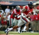 Sep 7, 2013; Oxford, MS, USA; Mississippi Rebels tight end Evan Engram (17) advances the ball for a touchdown during the first half against the Southeast Missouri State Redhawks at Vaught-Hemingway Stadium. Mandatory Credit: Spruce Derden-USA TODAY Sports