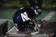Sep 7, 2013; Evanston, IL, USA;  A detail shot of a Northwestern Wildcats helmet during a game against the Syracuse Orange at Ryan Field. Mandatory Credit: David Banks-USA TODAY Sports