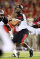 Sep 7, 2013; Oxford, MS, USA; Southeast Missouri State Redhawks quarterback Scott Lathrop (17) drops back for a pass during the second half against the Mississippi Rebels  at Vaught-Hemingway Stadium. Mandatory Credit: Spruce Derden-USA TODAY Sports