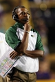 Sep 7, 2013; Baton Rouge, LA, USA; UAB Blazers head coach Garrick McGee in the second half against the LSU Tigers at Tiger Stadium. LSU defeated UAB 56-17. Mandatory Credit: Crystal LoGiudice-USA TODAY Sports