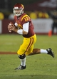 September 7, 2013; Los Angeles, CA, USA; Southern California Trojans quarterback Max Wittek (13) runs the ball to pass against the Washington State Cougars during the second half at the Los Angeles Memorial Coliseum. Mandatory Credit: Gary A. Vasquez-USA TODAY Sports