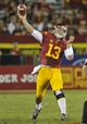 September 7, 2013; Los Angeles, CA, USA; Southern California Trojans quarterback Max Wittek (13) throws a pass against the Washington State Cougars during the second half at the Los Angeles Memorial Coliseum. Mandatory Credit: Gary A. Vasquez-USA TODAY Sports