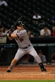 Sep 3, 2013; Houston, TX, USA; Minnesota Twins left fielder Josh Willingham (16) bats against the Houston Astros during the eleventh inning at Minute Maid Park. Mandatory Credit: Thomas Campbell-USA TODAY Sports