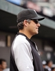 Sep 8, 2013; Baltimore, MD, USA; Chicago White Sox manager Robin Ventura (23) in the dugout during the third inning against the Baltimore Orioles at Oriole Park at Camden Yards. Mandatory Credit: Joy R. Absalon-USA TODAY Sports