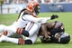 Sep 8, 2013; Chicago, IL, USA; Chicago Bears wide receiver Brandon Marshall (15) makes a touchdown catch against Cincinnati Bengals free safety Reggie Nelson (20) during the fourth quarter at Soldier Field. Chicago defeats Cincinnati 24-21. Mandatory Credit: Mike DiNovo-USA TODAY Sports