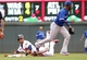 Sep 8, 2013; Minneapolis, MN, USA; Minnesota Twins shortstop Pedro Florimon (25) slides safely into second base during the sixth inning against Toronto Blue Jays at Target Field.  Mandatory Credit: Brad Rempel-USA TODAY Sports