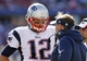 Sep 8, 2013; Orchard Park, NY, USA; New England Patriots quarterback Tom Brady (12) talks with head coach Bill Belichick late in the fourth quarter against the Buffalo Bills at Ralph Wilson Stadium. Patriots beat the Bills 23-21. Mandatory Credit: Kevin Hoffman-USA TODAY Sports