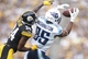 Sep 8, 2013; Pittsburgh, PA, USA; Tennessee Titans wide receiver Nate Washington (85) pulls in a pass against Pittsburgh Steelers cornerback Ike Taylor (24) during the third quarter at Heinz Field. The Tennessee Titans won 16-9. Mandatory Credit: Charles LeClaire-USA TODAY Sports