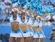 Sep 8, 2013; Charlotte, NC, USA; Carolina Panthers cheerleaders perform in the second half. The Seahawks defeated the Panthers 12-7 at Bank of America Stadium. Mandatory Credit: Bob Donnan-USA TODAY Sports