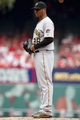 Sep 8, 2013; St. Louis, MO, USA; Pittsburgh Pirates relief pitcher Stolmy Pimentel (38) prepares to pitch in the fourth inning against the St. Louis Cardinals at Busch Stadium. Mandatory Credit: Scott Kane-USA TODAY Sports