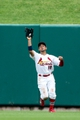 Sep 8, 2013; St. Louis, MO, USA;  St. Louis Cardinals center fielder Jon Jay (19) catches for an out against the Pittsburgh Pirates at Busch Stadium. Mandatory Credit: Scott Kane-USA TODAY Sports
