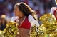 Sep 8, 2013; San Francisco, CA, USA; A San Francisco 49ers Gold Rush cheerleader performs during action against the Green Bay Packers in the fourth quarter at Candlestick Park. The 49ers defeated the Packers 34-28. Mandatory Credit: Cary Edmondson-USA TODAY Sports