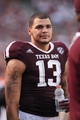Sep 7, 2013; College Station, TX, USA; Texas A&M Aggies wide receiver Mike Evans (13) stands on the sideline during the second quarter against the Sam Houston State Bearkats at Kyle Field. Mandatory Credit: Troy Taormina-USA TODAY Sports
