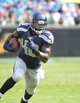 Sep 8, 2013; Charlotte, NC, USA; Seattle Seahawks running back Derrick Coleman (40) runs in the fourth quarter. The Seahawks defeated the Panthers 12-7 at Bank of America Stadium. Mandatory Credit: Bob Donnan-USA TODAY Sports