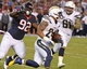 Sep 9, 2013; San Diego, CA, USA; Houston Texans defensive tackle Earl Mitchell (92) chases down San Diego Chargers running back Ryan Mathews (24) during the fourth quarter of the Texans 31-28 win at Qualcomm Stadium. Mandatory Credit: Robert Hanashiro-USA TODAY