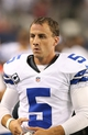 Sep 8, 2013; Arlington, TX, USA; Dallas Cowboys kicker Dan Bailey (5) on the sidelines during the game against the New York Giants at AT&T Stadium. Mandatory Credit: Matthew Emmons-USA TODAY Sports