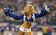 Sep 8, 2013; Arlington, TX, USA; Dallas Cowboys cheerleaders perform during a timeout form the game against the New York Giants at AT&T Stadium.  The Dallas Cowboys beat the New York Giants 36-31. Mandatory Credit: Matthew Emmons-USA TODAY Sports