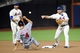 Sep 10, 2013; New York, NY, USA; New York Mets second baseman Daniel Murphy (28) throws to first base after forcing out Washington Nationals shortstop Zach Walters (4) at second base during the seventh inning at Citi Field. Mandatory Credit: Joe Camporeale-USA TODAY Sports
