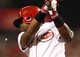 Sep 10, 2013; Cincinnati, OH, USA; Cincinnati Reds second baseman Brandon Phillips (4) prepares to bat during the third inning against the Chicago Cubs at Great American Ball Park. Mandatory Credit: Frank Victores-USA TODAY Sports