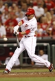 Sep 10, 2013; Cincinnati, OH, USA; Cincinnati Reds center fielder Billy Hamilton (6) bats during the seventh inning against the Chicago Cubs at Great American Ball Park. The Cubs defeated the Reds 9-1. Mandatory Credit: Frank Victores-USA TODAY Sports