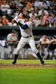 Sep 9, 2013; Baltimore, MD, USA; New York Yankees third baseman Alex Rodriguez (13) bats in the ninth inning against the Baltimore Orioles at Oriole Park at Camden Yards. The Orioles defeated the Yankees 4-2. Mandatory Credit: Joy R. Absalon-USA TODAY Sports
