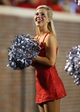 Sep 7, 2013; Oxford, MS, USA; Mississippi Rebels dance team member entertains the crowd during the game against the Southeast Missouri State Redhawks at Vaught-Hemingway Stadium. Mississippi Rebels defeated the Southeast Missouri State Redhawks 31-13.  Mandatory Credit: Spruce Derden-USA TODAY Sports