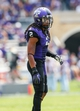 Sep 7, 2013; Fort Worth, TX, USA; TCU Horned Frogs cornerback Jason Verrett (2) plays defense during the game against the Southeastern Louisiana Lions at Amon G. Carter Stadium. Mandatory Credit: Kevin Jairaj-USA TODAY Sports