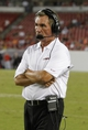 Aug 29, 2013; Tampa, FL, USA; Washington Redskins head coach Mike Shanahan during the second half at Raymond James Stadium. Washington Redskins defeated the Tampa Bay Buccaneers 30-12. Mandatory Credit: Kim Klement-USA TODAY Sports