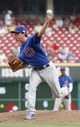 Sep 11, 2013; Cincinnati, OH, USA;Chicago Cubs pitcher Brooks Raley throws a pitch against the Cincinnati Reds at Great American Ball Park. Mandatory Credit: David Kohl-USA TODAY Sports