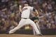 Sep 11, 2013; Minneapolis, MN, USA; Minnesota Twins relief pitcher Ryan Pressly (57) delivers a pitch in the fourth inning against the Oakland Athletics at Target Field. Mandatory Credit: Jesse Johnson-USA TODAY Sports