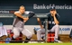 Sep 11, 2013; Baltimore, MD, USA; New York Yankees teammates Alex Rodriguez (left) and Derek Jeter (right) watch the action from the dugout during the ninth inning against the Baltimore Orioles at Oriole Park at Camden Yards. The Yankees defeated the Orioles 5-4. Mandatory Credit: Joy R. Absalon-USA TODAY Sports