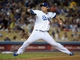 Sep 11, 2013; Los Angeles, CA, USA; Los Angeles Dodgers starter Hyun-Jin Ryu (99) delivers a pitch against the Arizona Diamondbacks at Dodger Stadium. Mandatory Credit: Kirby Lee-USA TODAY Sports
