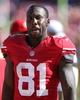 Sep 8, 2013; San Francisco, CA, USA; San Francisco 49ers wide receiver Anquan Boldin (81) on the sideline during the fourth quarter against the Green Bay Packers at Candlestick Park. The San Francisco 49ers defeated the Green Bay Packers 34-28. Mandatory Credit: Kelley L Cox-USA TODAY Sports