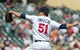 Sep 12, 2013; Minneapolis, MN, USA; Minnesota Twins pitcher Anthony Swarzak (51) throws a pitch in the fifth inning against the Oakland Athletics at Target Field. Mandatory Credit: Brad Rempel-USA TODAY Sports
