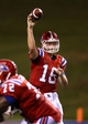Sep 12, 2013; Ruston, LA, USA; Louisiana Tech Bulldogs quarterback Scotty Young (16) makes a throw against the Tulane Green Wave in the second quarter at Joe Aillet Stadium. Mandatory Credit: Chuck Cook-USA TODAY Sports