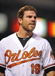 Sep 12, 2013; Baltimore, MD, USA; Baltimore Orioles first baseman Chris Davis (19) during a game against the New York Yankees at Oriole Park at Camden Yards. Mandatory Credit: Joy R. Absalon-USA TODAY Sports
