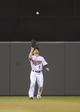Sep 13, 2013; Minneapolis, MN, USA; Minnesota Twins left fielder Alex Presley (1) catches a fly ball in the fifth inning against the Tampa Bay Rays at Target Field. Mandatory Credit: Jesse Johnson-USA TODAY Sports